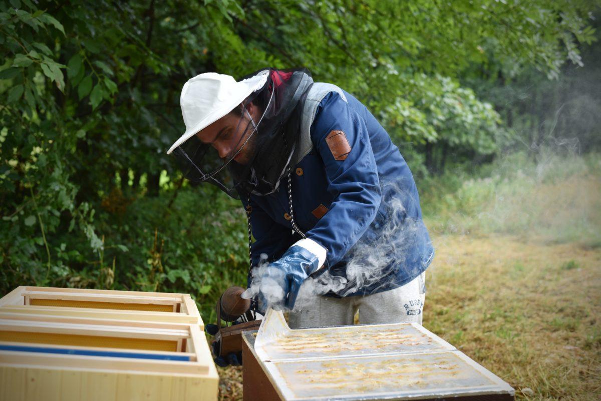 A je to tady, totiž i u nás včelaříme!
