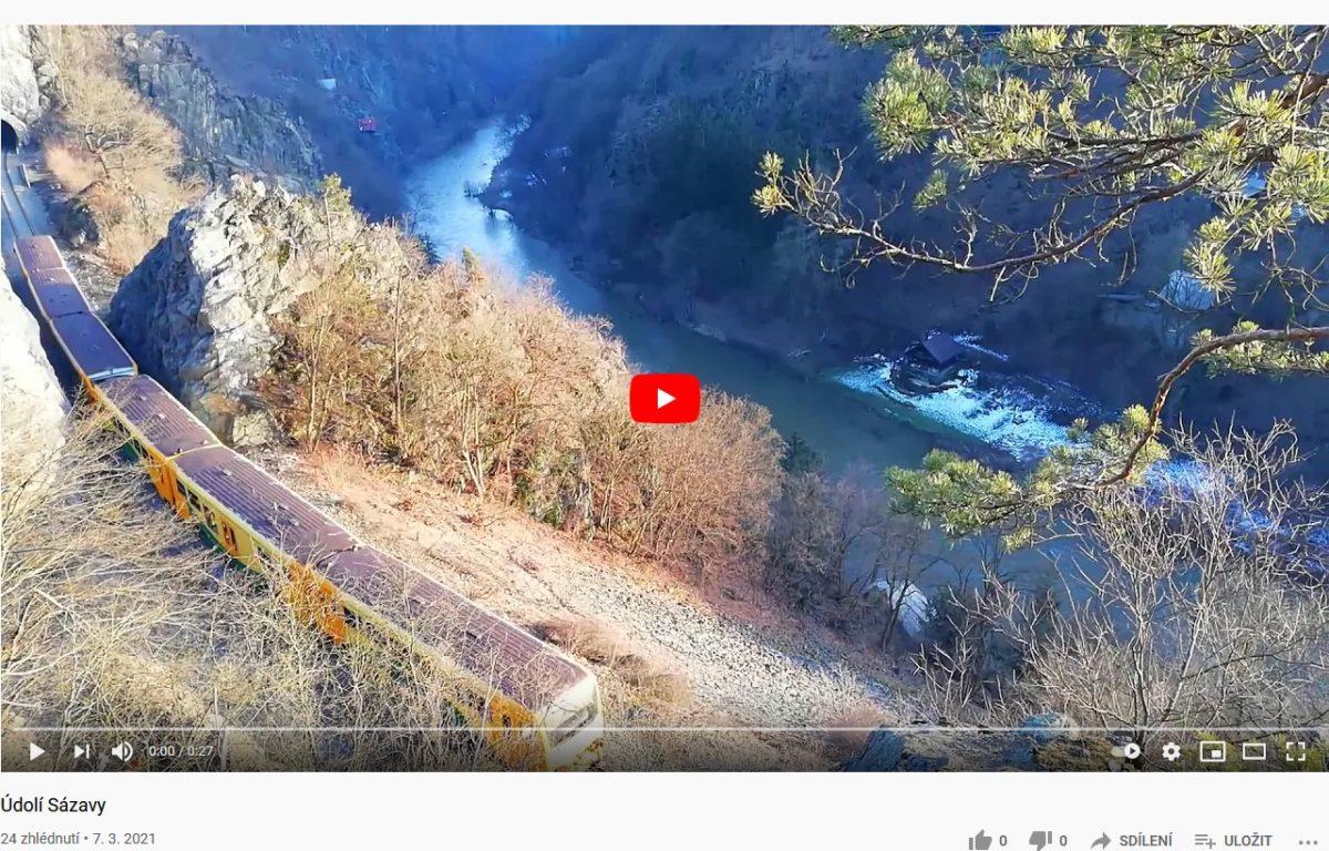 Údolí Sázavy, video z 20.2.2021